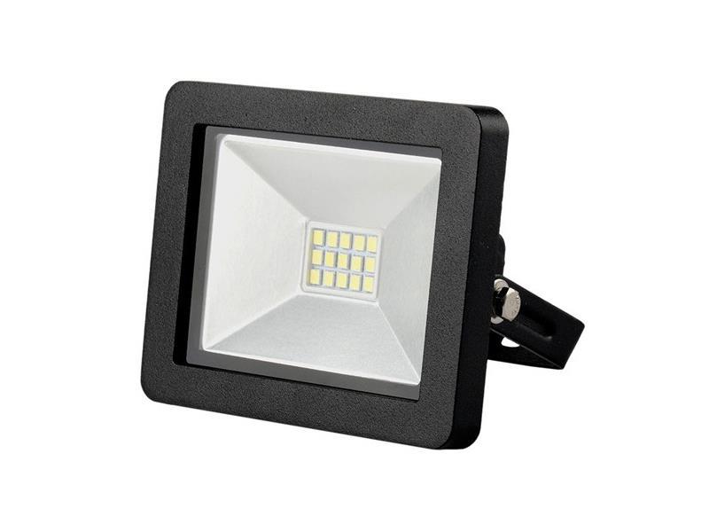Solight LED venkovní reflektor SLIM, 10W, 700lm, 3000K, černý WM-10W-G