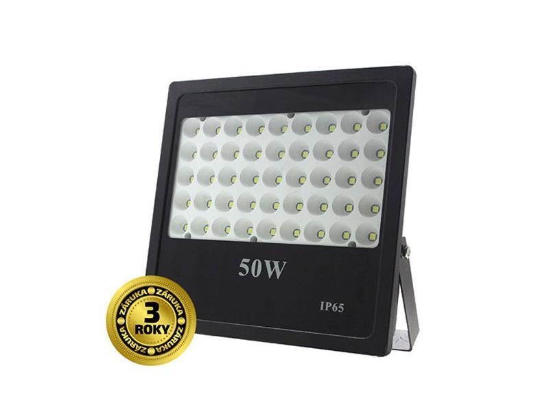 Solight LED venkovní reflektor, 50W, 4250lm, AC 230V, černá WM-50W-F