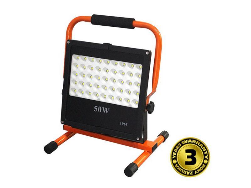 LED venkovní reflektor se stojanem, 50W, 4250lm, kabel se zástrčkou, AC 230V WM-50W-FES