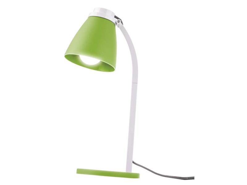 LED stolní lampa Lolli se žárovkou zelená