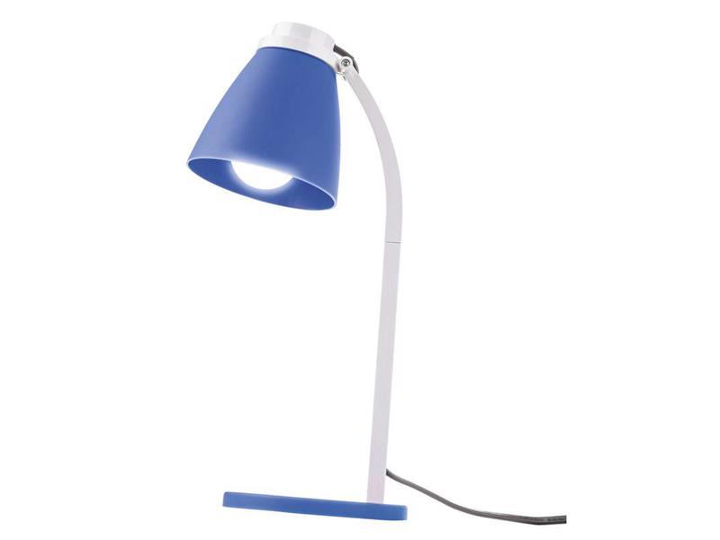 LED stolní lampa Lolli se žárovkou modrá