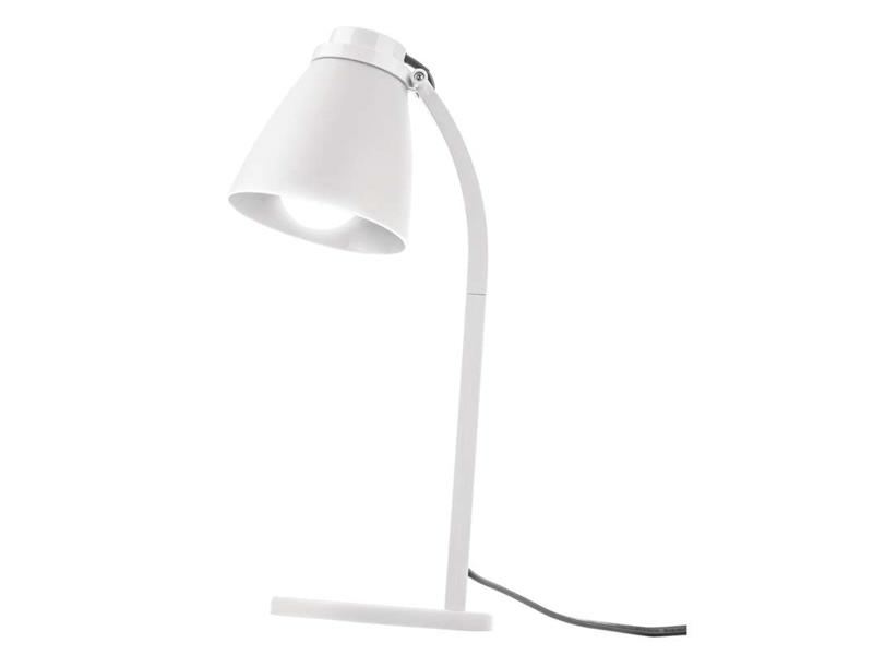 LED stolní lampa Lolli se žárovkou bílá