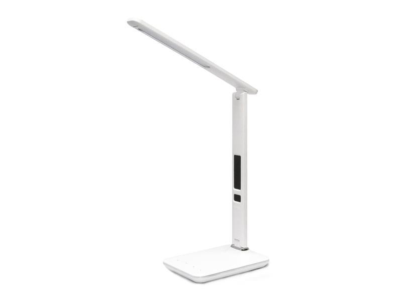 Lampa LED stolní IMMAX KINGFISHER s displejem bílá 08934L