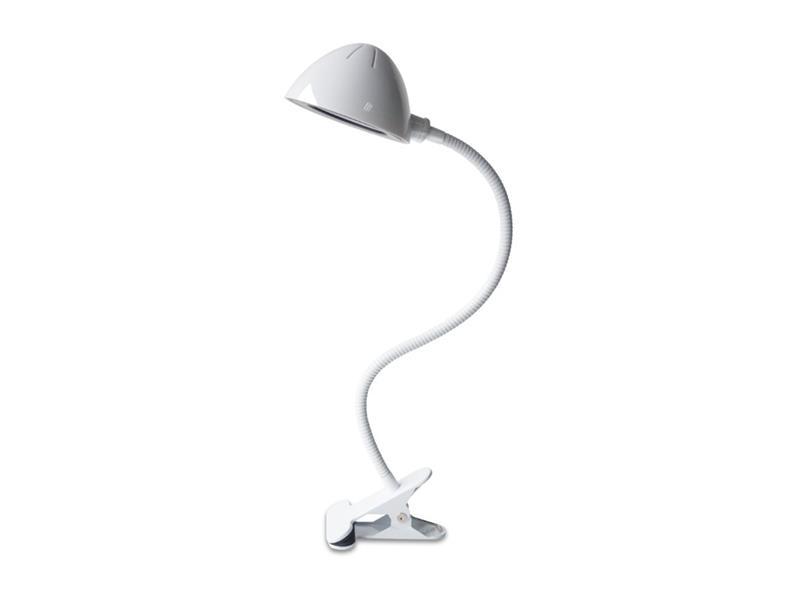 Lampa LED stolní IMMAX CLIP bílá