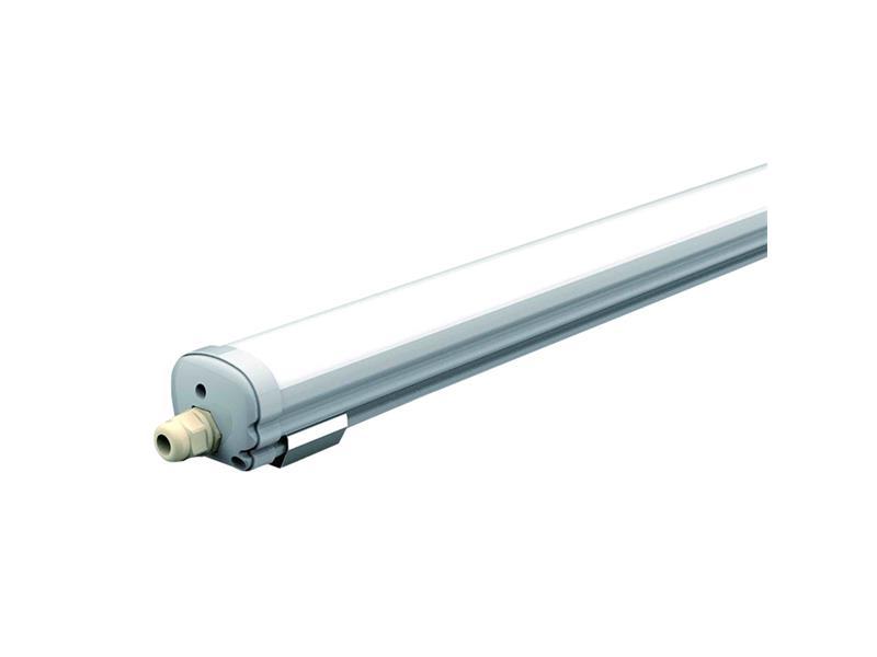 LED zářivkové svítidlo prachotěsné IP65, 60cm, 18W, bílá studená 6000K