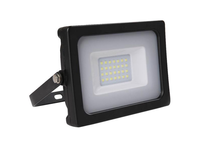 LED reflektor venkovní SLIM  20W/1600lm, 6400K, SMD, černý