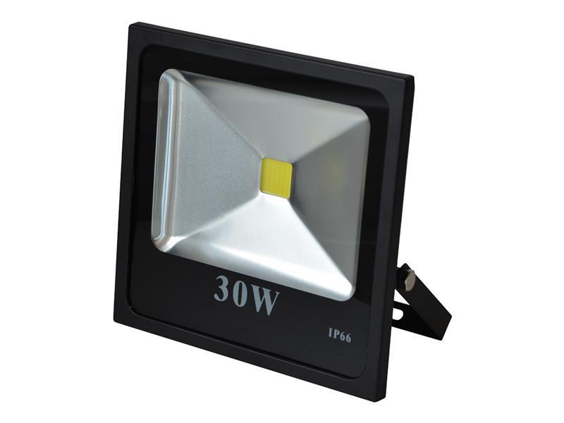 LED reflektor venkovní 30W/2700lm, MCOB, AC 230V, STUDENÁ, černý