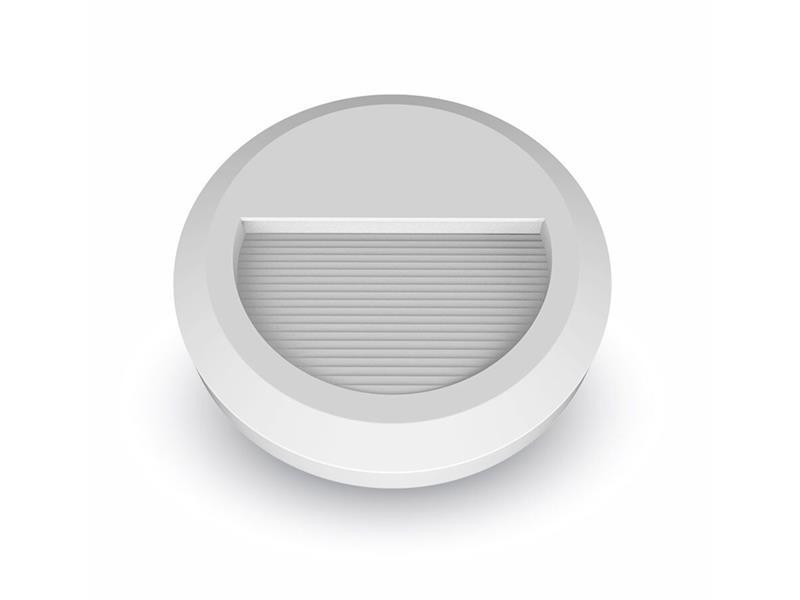 LED venkovní osvětlení, kulaté, IP65, 2W, 4000K, bílá