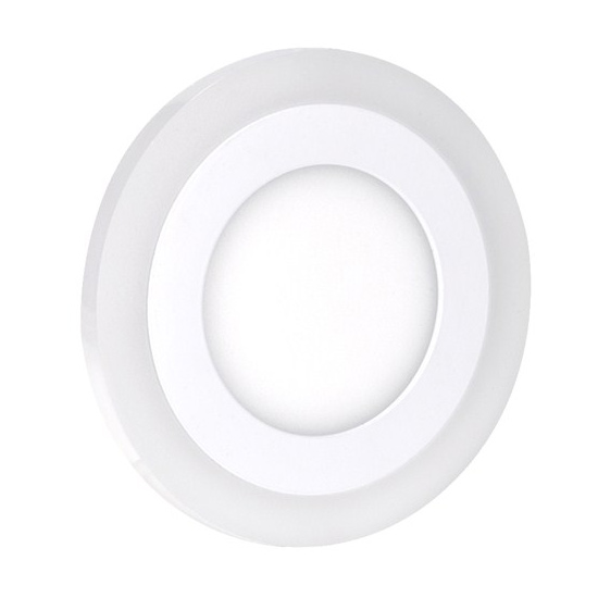 LED podsvícený panel, podhledový, 12W+4W, 900lm, 4000K, kulatý WD152
