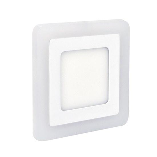 LED podsvícený panel, podhledový, 12W+4W, 900lm, 4000K, čtvercový WD153