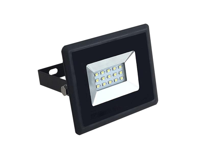 LED venkovní reflektor SLIM, 10W, 850lm, 4000K, AC 230V, černá