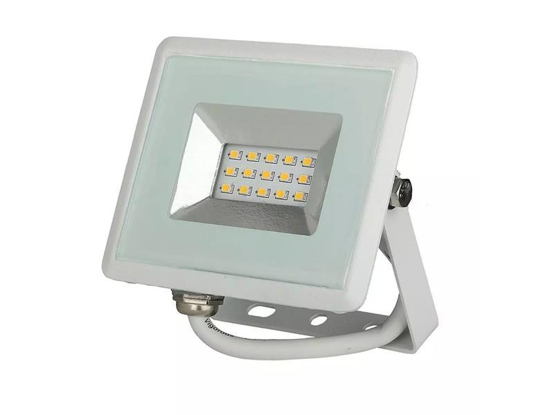 LED venkovní reflektor SLIM, 10W, 850lm, 4000K, AC 230V, bílá