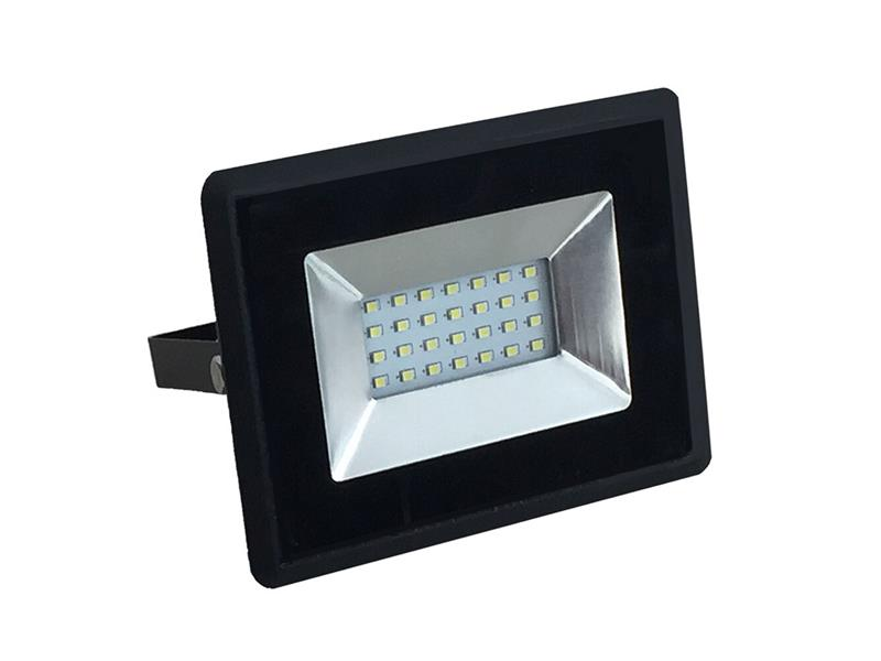 LED venkovní reflektor SLIM, 20W, 1700lm, 4000K, AC 230V, černá