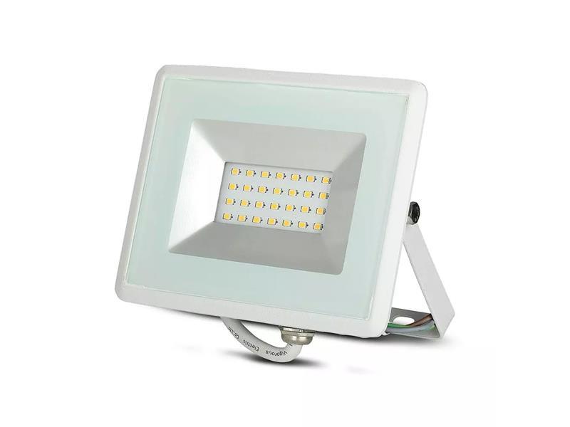 LED venkovní reflektor SLIM, 20W, 1700lm, 4000K, AC 230V, bílá