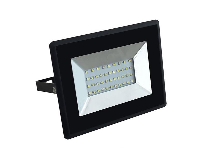 LED venkovní reflektor SLIM, 30W, 2500lm, 4000K, AC 230V, černá