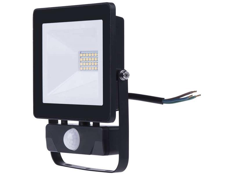 LED venkovní reflektor HOBBY SLIM s pohyb. čidlem, 20W neutrální bílá