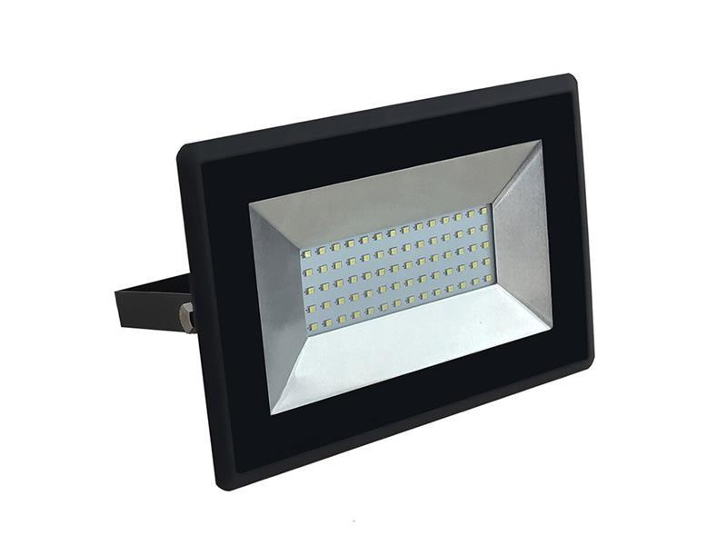 LED venkovní reflektor SLIM, 50W, 4250lm, 4000K, AC 230V, černá