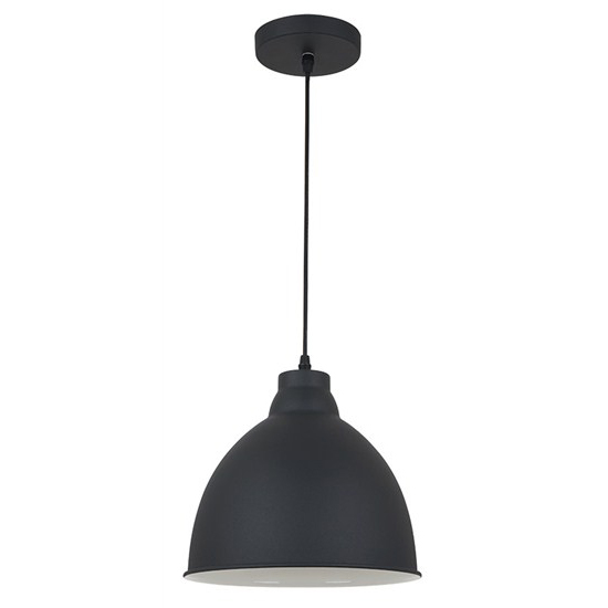 Svítidlo lustr Trento, 26 cm, E27, černá