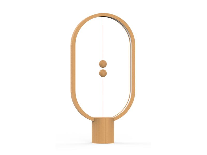 Lampa LED stolní HENG BALANCE ELLIPSE USB LIGHT WOOD