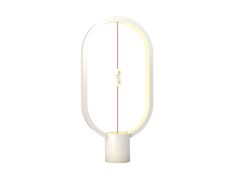 Lampa LED stolní HENG BALANCE ELLIPSE PLASTIC USB WHITE