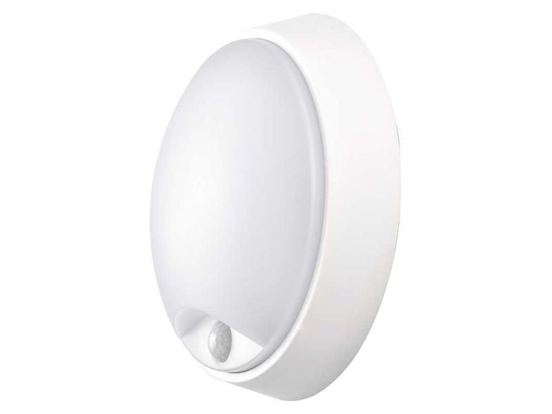 LED přisazené svítidlo s PIR, kruh černá/bílá 14W neut. bílá