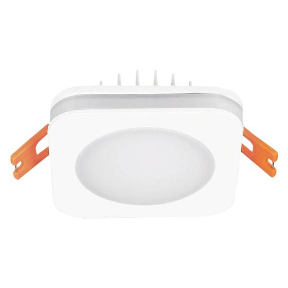 LED podhledové svítidlo, 6W, 420lm, 4000K, IP44, čtvercové Solight WD136
