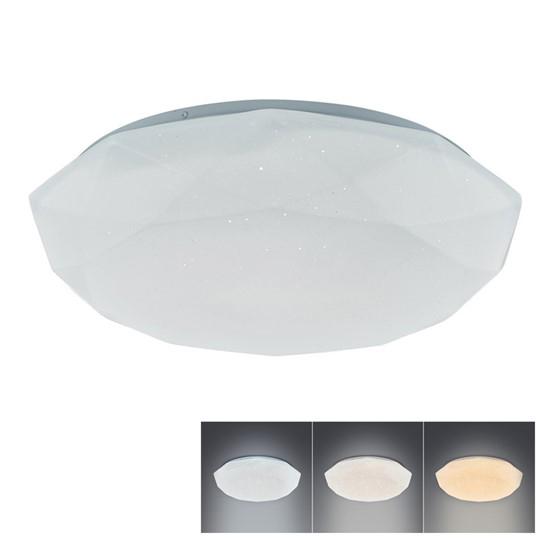 LED stropní světlo DIAMANT, 18W, 1350lm,změna chromatičnosti, WO721