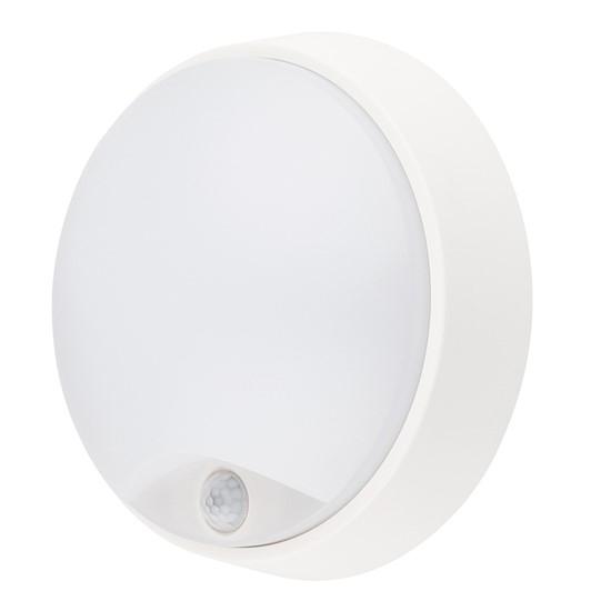 LED venkovní osvětlení s pohybovým senzorem, IP54,14W, 1000lm, 4000K, 22cm, WO724