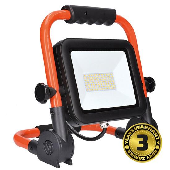 LED reflektor SOLIGHT PRO se sklopný stojanem, 100W, 8500lm, 5000K, kabel se zástrčkou,WM-100W-FEL