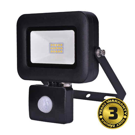LED reflektor SOLIGHT PRO se senzorem, 10W, 850lm, 5000K, IP44, WM-10WS-L