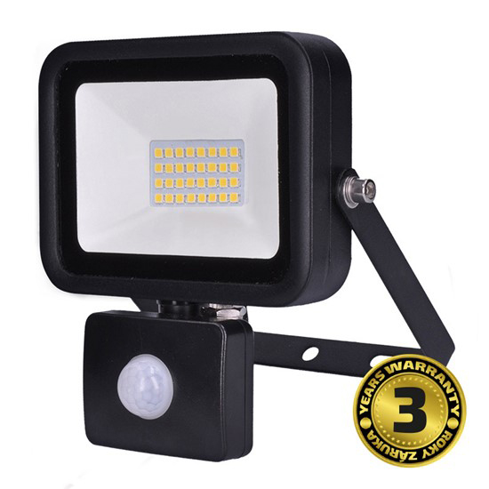 LED reflektor SOLIGHT PRO se senzorem, 30W, 2550lm, 5000K, IP44, WM-30WS-L