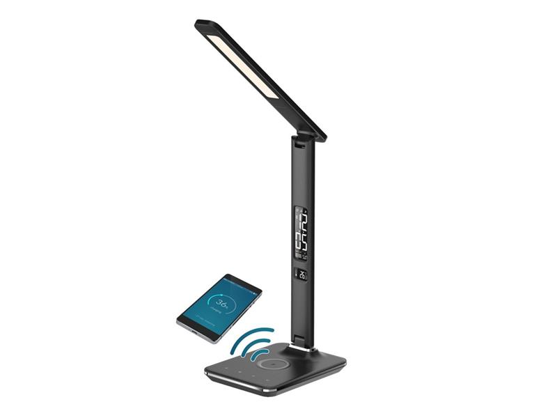 Lampa stolní IMMAX KINGFISHER WIRELESS CHARGER BLACK 08959L