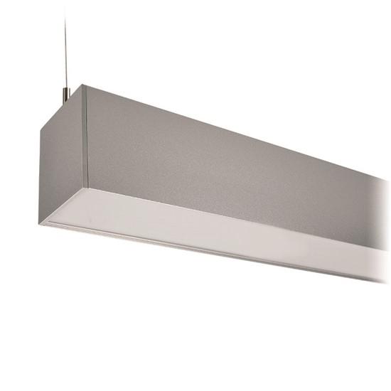 LED závěsné osvětlení SOLIGHT WPR-36W-001, 36W, 3060lm, 118cm, 3 roky záruka, stříbrná barva
