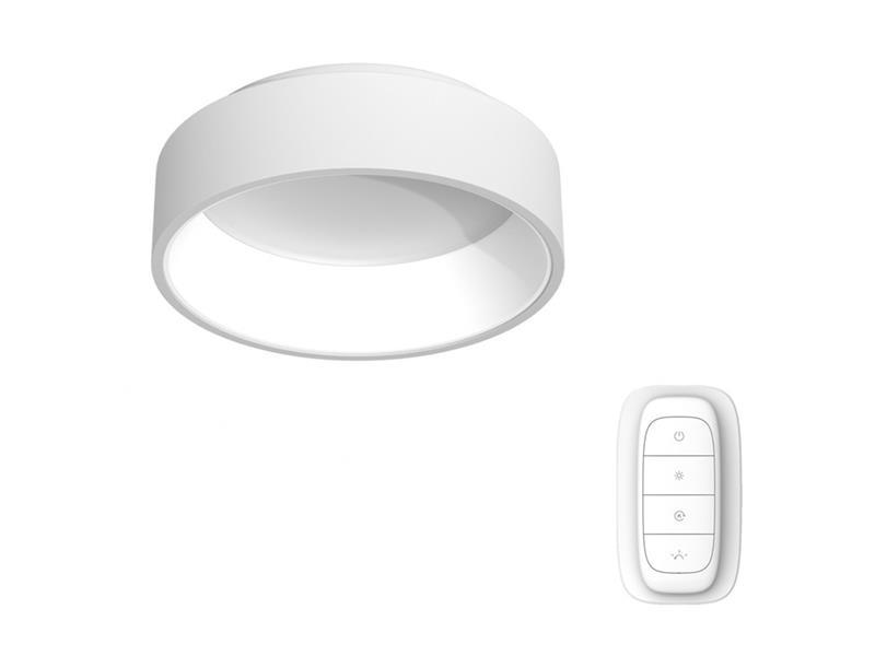 Svítidlo IMMAX NEO AGUJERO 07016L 30W 45 cm WHITE + dálkový ovladač
