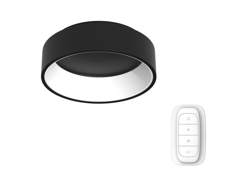 Svítidlo IMMAX NEO AGUJERO 07015L 30W 45 cm BLACK + dálkový ovladač