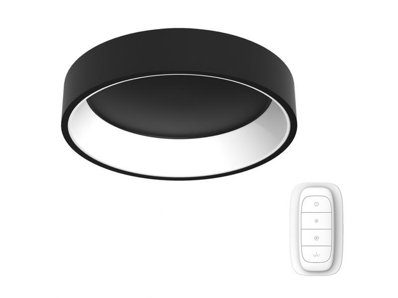 Svítidlo IMMAX NEO AGUJERO 07017L 39W 60 cm BLACK + dálkový ovladač