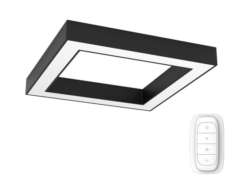 Svítidlo IMMAX NEO CANTO 07074L 60W 80 cm BLACK + dálkový ovladač