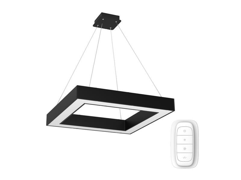 Svítidlo IMMAX NEO CANTO 07073L 60W 80 cm BLACK + dálkový ovladač