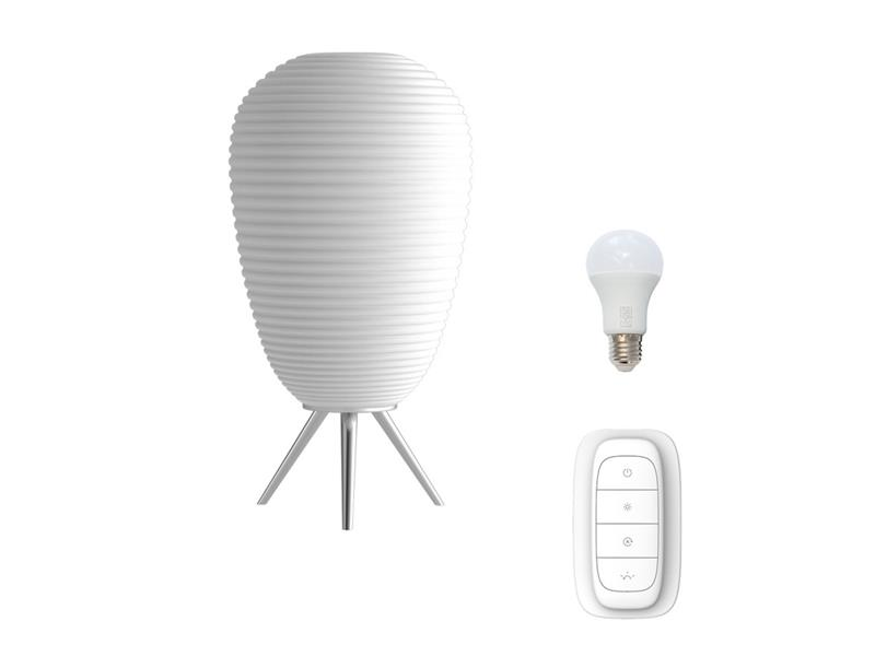 Lampa LED stolní IMMAX NEO COCONO 07064L 8.5W 24 x 43 cm WHITE + dálkový ovladač