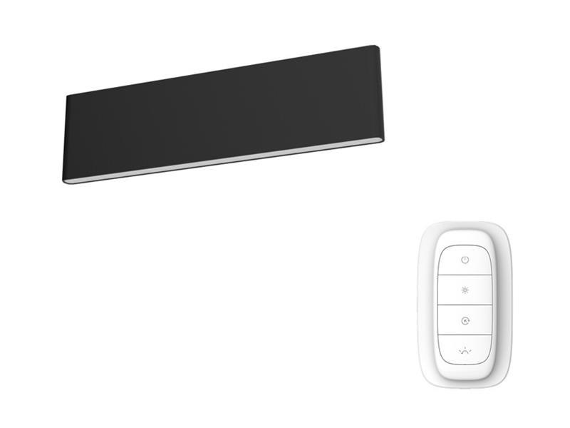 Svítidlo IMMAX NEO LISTON 07086L 8W 29 cm BLACK + dálkový ovladač