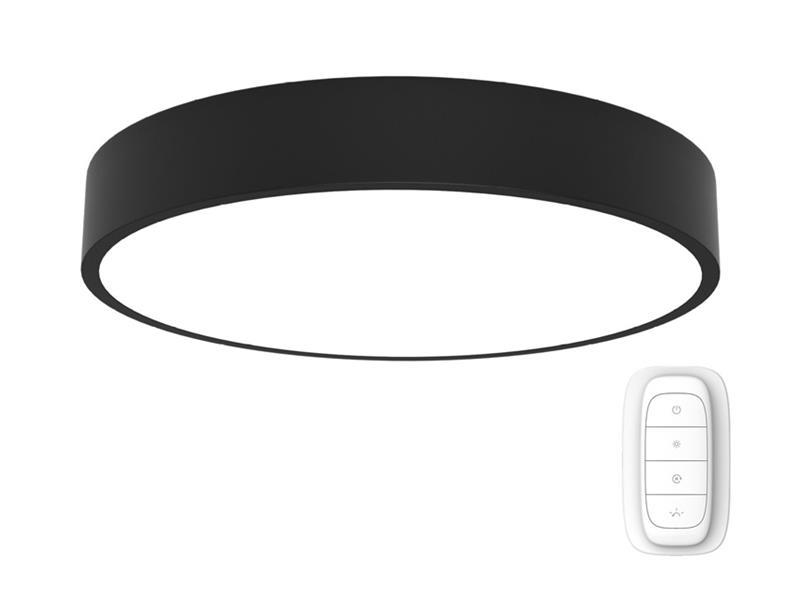 Svítidlo IMMAX NEO RONDATE 07027L 65W 80 cm BLACK + dálkový ovladač