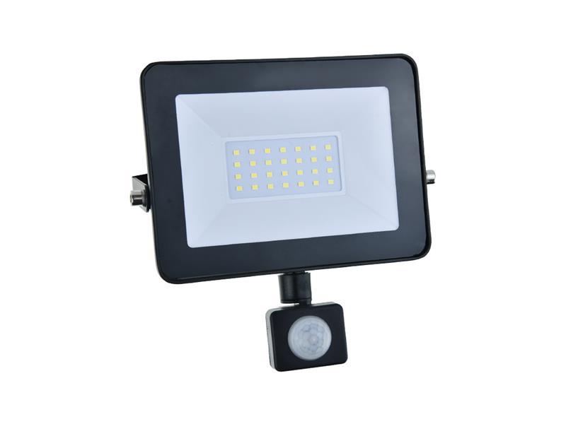 LED reflektor GETI GLF30P 30W s PIR čidlem