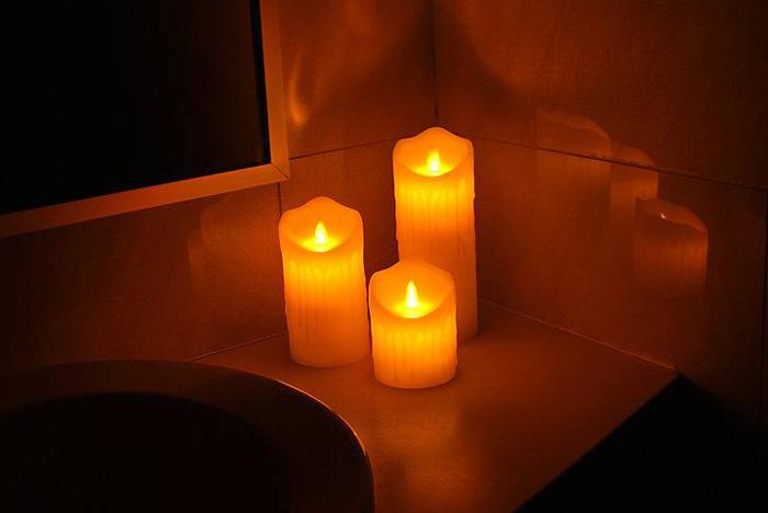Vosková LED svíčka LTC 12,5cm