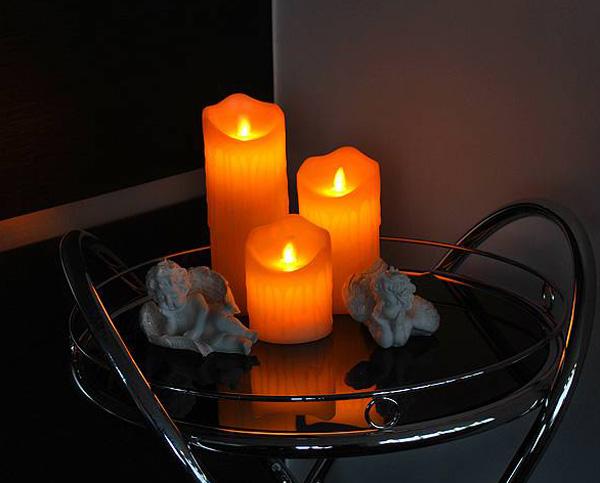 Vosková LED svíčka LTC 17,5cm