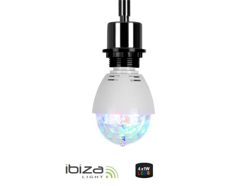 Stroboskop IBIZA ASTRO-MINI E27 RGBA