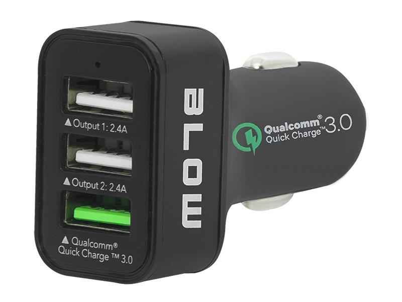 Nabíječka do auta BLOW QUALCOMM 3.0 USB 3x 2.4A B75-748