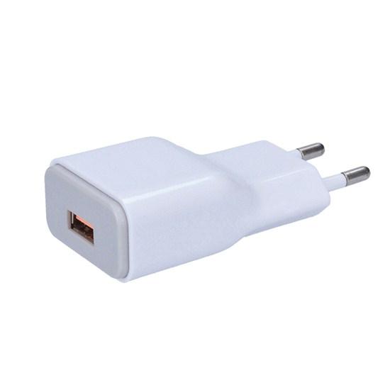 Adaptér, fast charge: 1x USB Qualcomm, 5V2A/9V1.67A/12V1A, AC 230V, bílošedý DC51