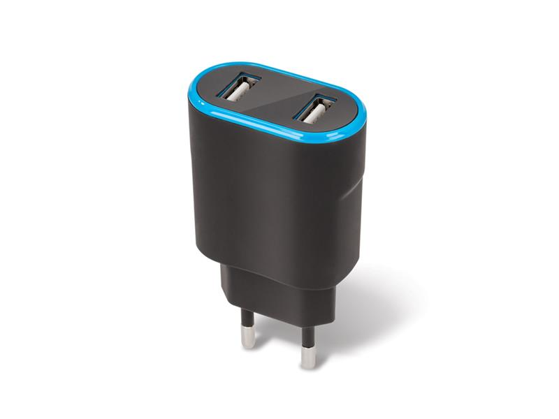 Adaptér USB FOREVER 2.4A TC-03 BLACK