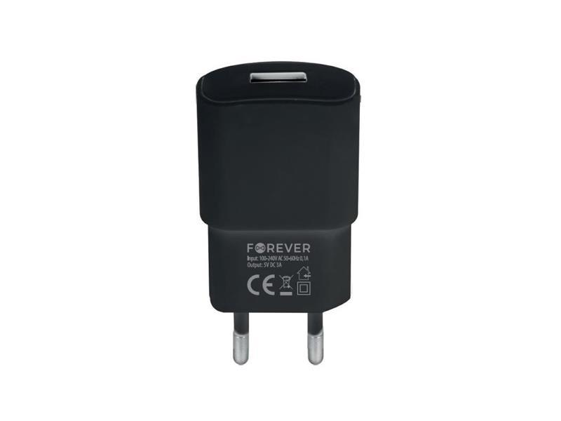 Adaptér USB FOREVER 3.A QC3.0 TC-01 BLACK