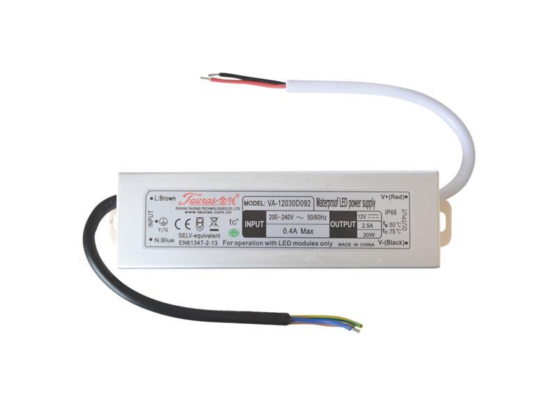 Zdroj spínaný pro LED diody + pásky IP66, 12V/ 30W/2,5A